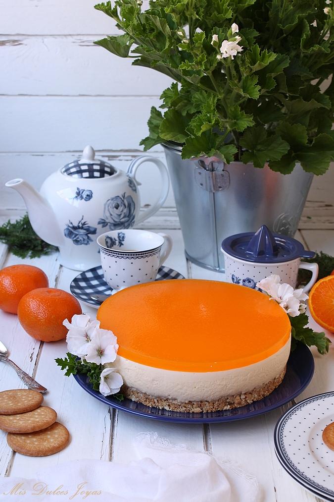 Cheesecake de mandarina (sin horno)