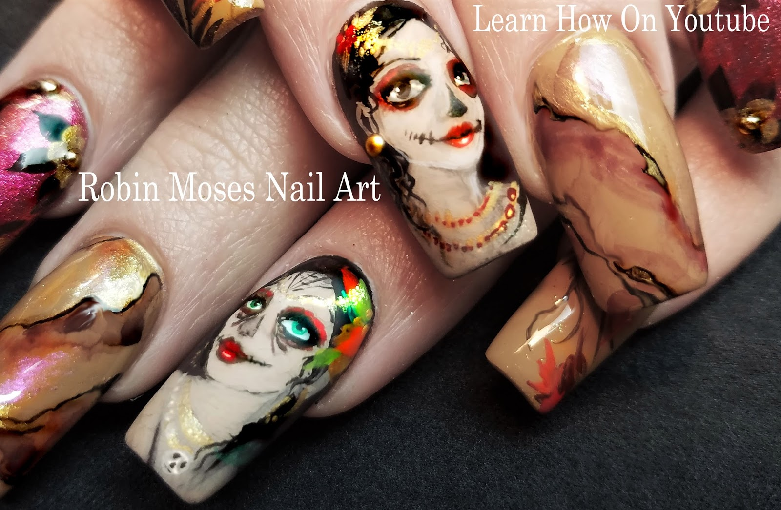 Robin moses nail art fall nails playlist full length autumn fall nails playlist full length autumn nail art designs diy tutorials prinsesfo Images