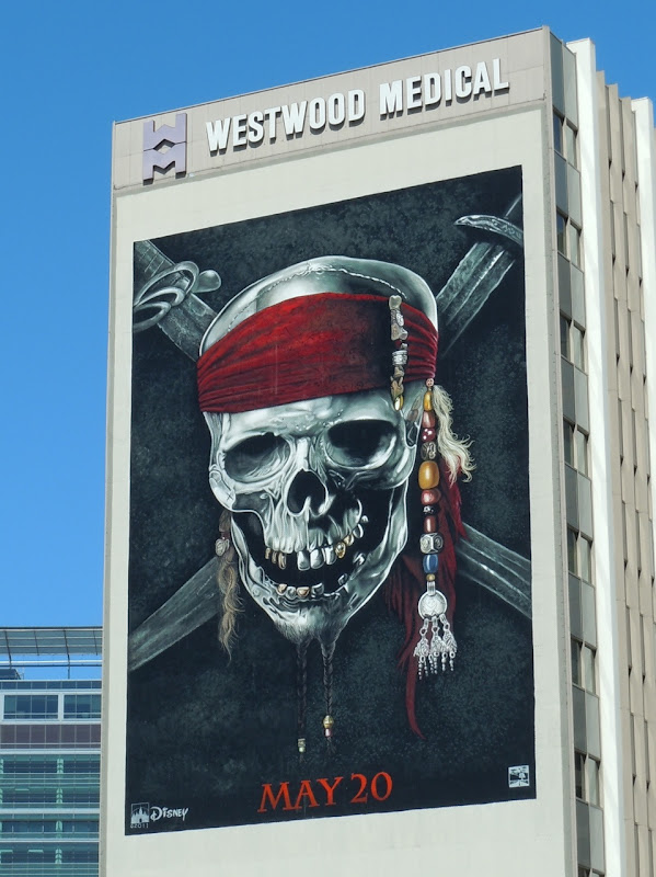 Pirates of the Caribbean 4 Skull billboard