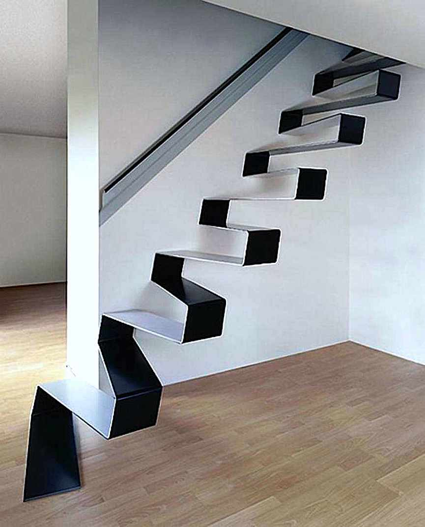 modern stairs, a photograph