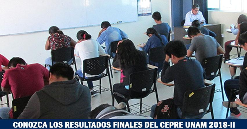Resultados CEPRE UNAM 2018-2 (10 Marzo) Ingresantes Examen Final Centro Preuniversitario - Universidad Nacional de Moquegua - www.unam.edu.pe