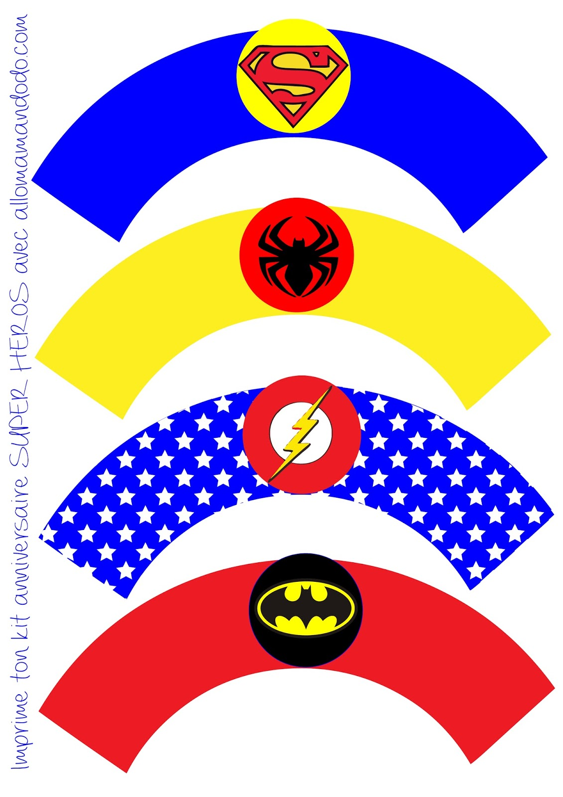 Superheroes Birthday Party Free Printable Wrappers And
