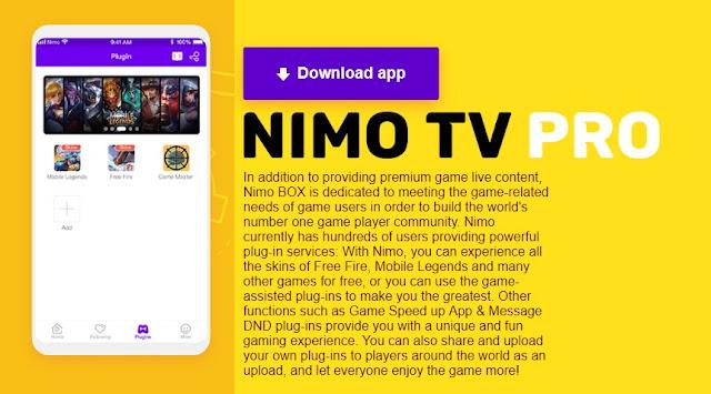 Download nimo tv pro