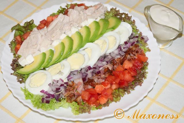 Салат кобб по-домашнему. Американская кухня