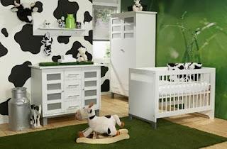 dormitorio bebé tema vacas