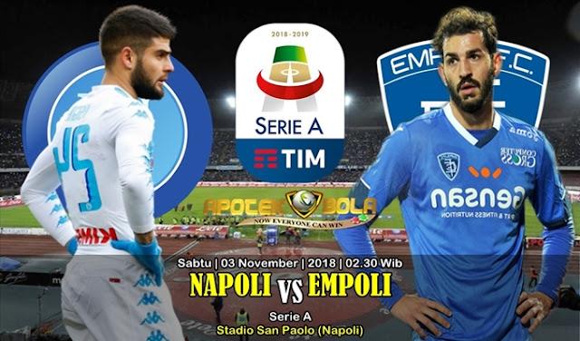 Prediksi Napoli VS Empoli 3 November 2018