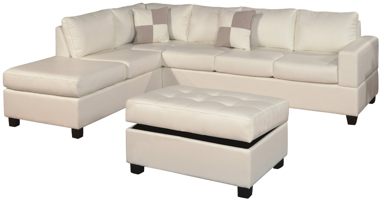 white microfiber sectional sofa valley brown leather reclining