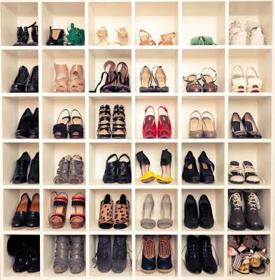 The application for a closet shoe organizer