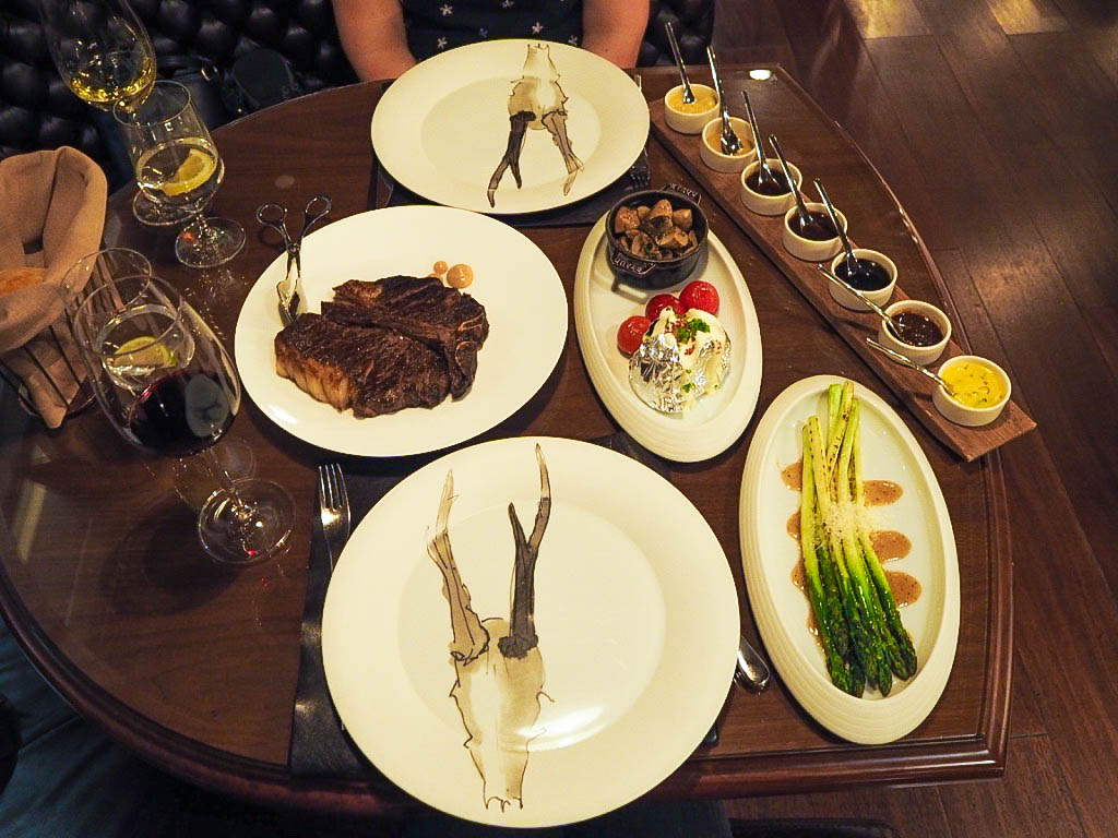 Steak at 1515 chophouse in shanghai