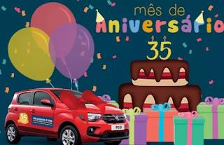 Promoção Corrêa Back Lojas 2017 Aniversário 35 Anos FIAT Mobi