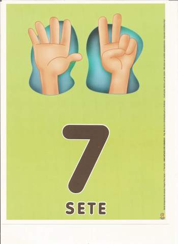 Cartazes de Numerais | Número sete