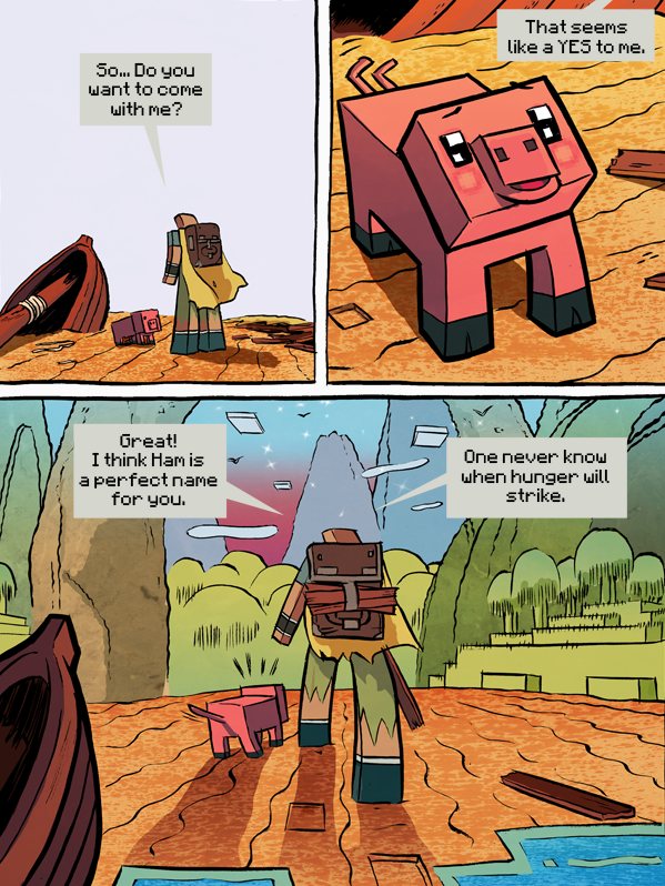 Design Cove Minecraft Comic