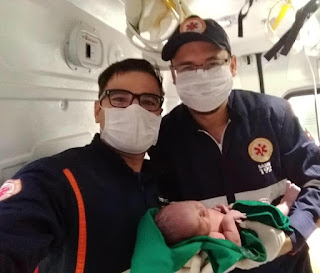 Bebê nasce dentro de viatura do SAMU/Picuí, em parto realizado pela equipe de plantão