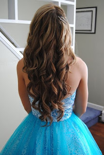 Long wavy hairstyle perfect for prom