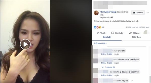 Hàng loạt tài khoản giả mạo Phi Huyền Trang, livestream tự show clip 4 phút