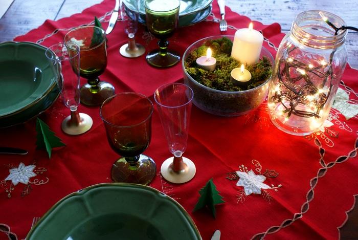 faidate decorazioni tavola natalizia natale