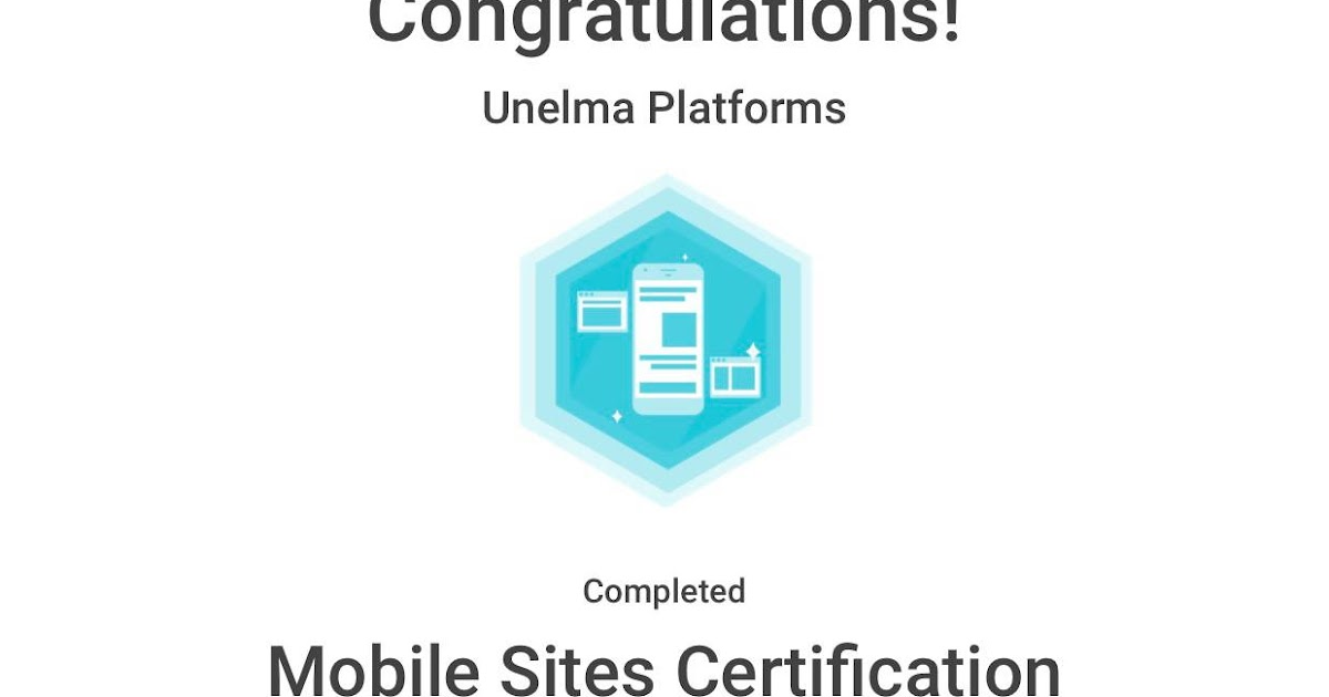 Unelma Platforms Is Mobile Sites Certified By Google