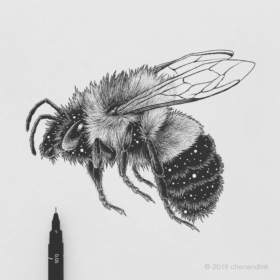 03-Bumblebee-Astral-Animals-Chen-Naje-www-designstack-co