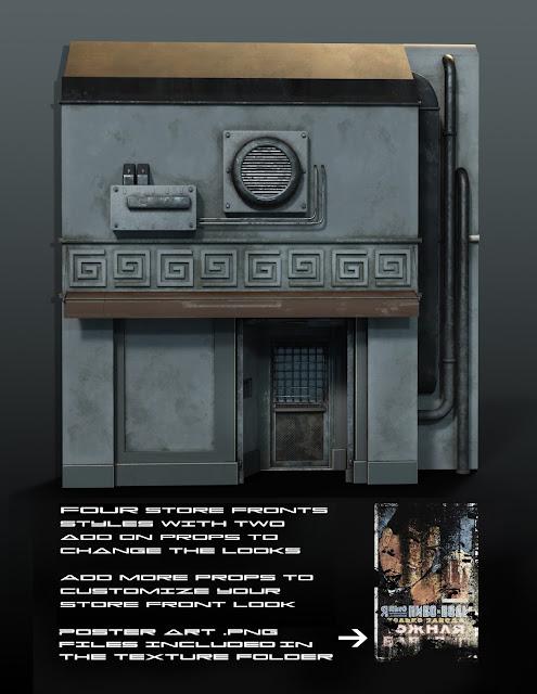 Sci-Fi Black Market Alley / Construction Set