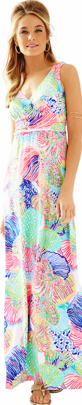 Lilly Pulitzer-Sloane V-Neck Maxi Dress