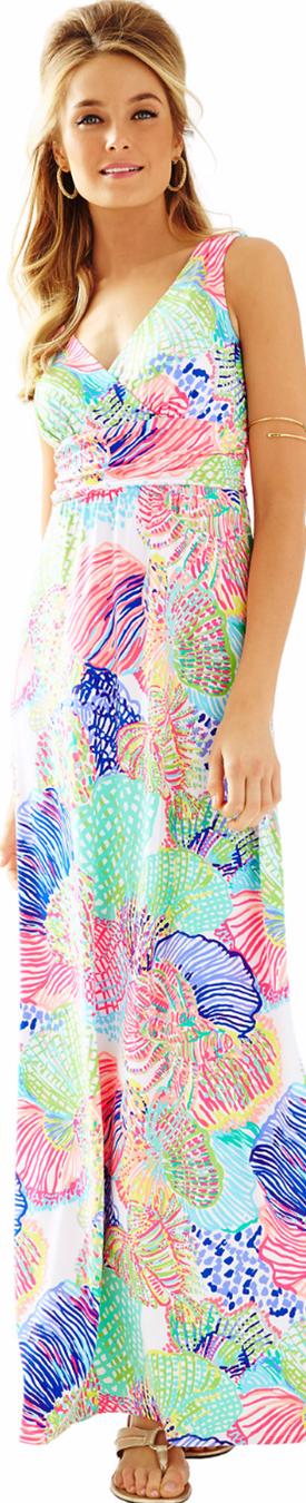 Lilly Pulitzer-Sloane V-Neck Maxi Dress