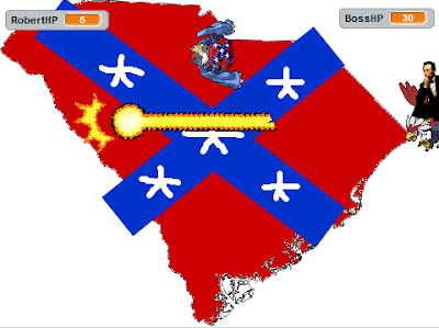 Abraham Lincoln Braviary Capture the Confederate Flag game Hyper Beam South Carolina