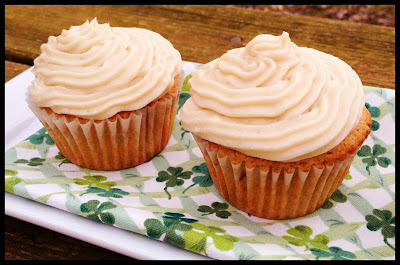 Baileys Cupcakes - The perfect St. Patrick's Day dessert! | basilmomma.com