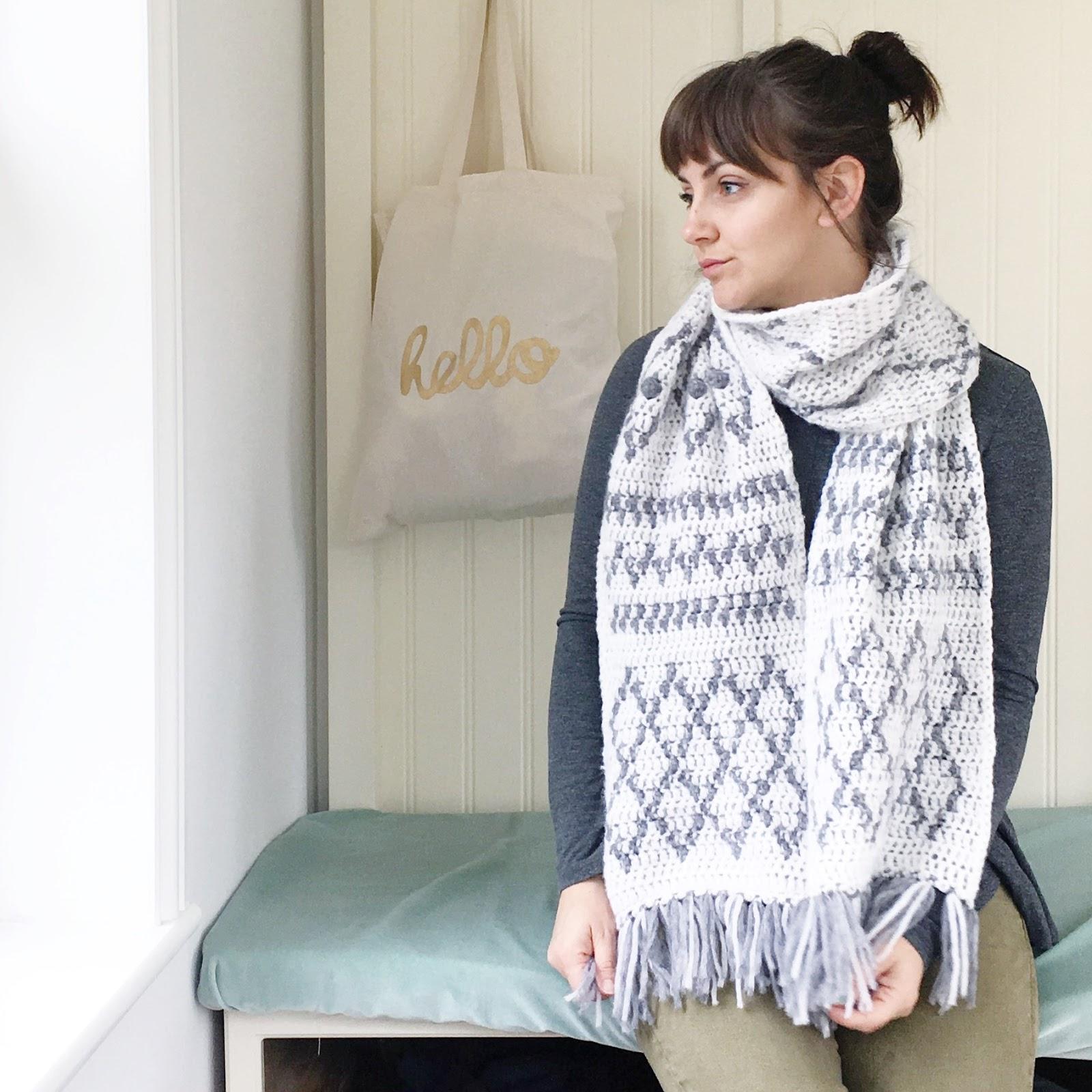 Berber Scarf - A Free Tapestry Crochet Pattern | Lottie & Albert