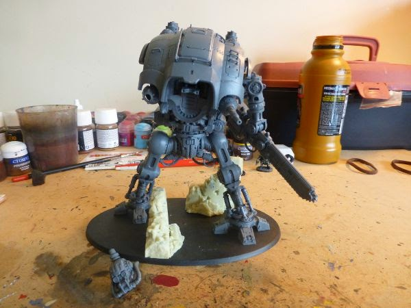 40k WIP imperial knight construction - front