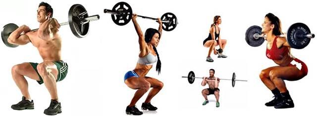 Tipos de sentadillas para una rutina de ejercicios