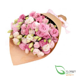 Pink lisianthus arrangement delivered Saigon