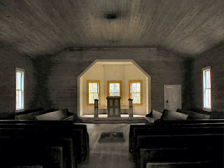 The interior of the Missionary Baptist Church.