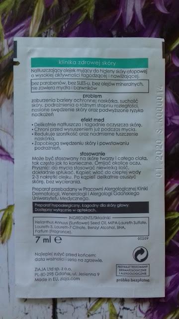 Ziaja med kuracja dermatologiczna azs natłuszczający olejek myjący do kąpieli i pod prysznic
