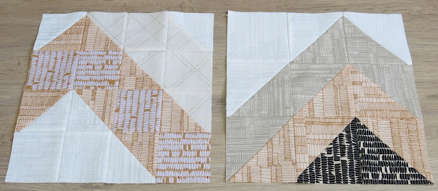 HST block #9 and #5 - Carolyn Friedlander's fabric collections