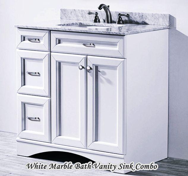 Vanity in White with Marble Home Depot Bathroom Vanity Sink Combo