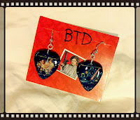 Star Wars Guitar Pick Earrings (front)