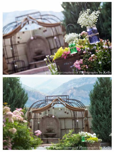Vintage themed wedding at Hillside Gardens in Colorado Springs