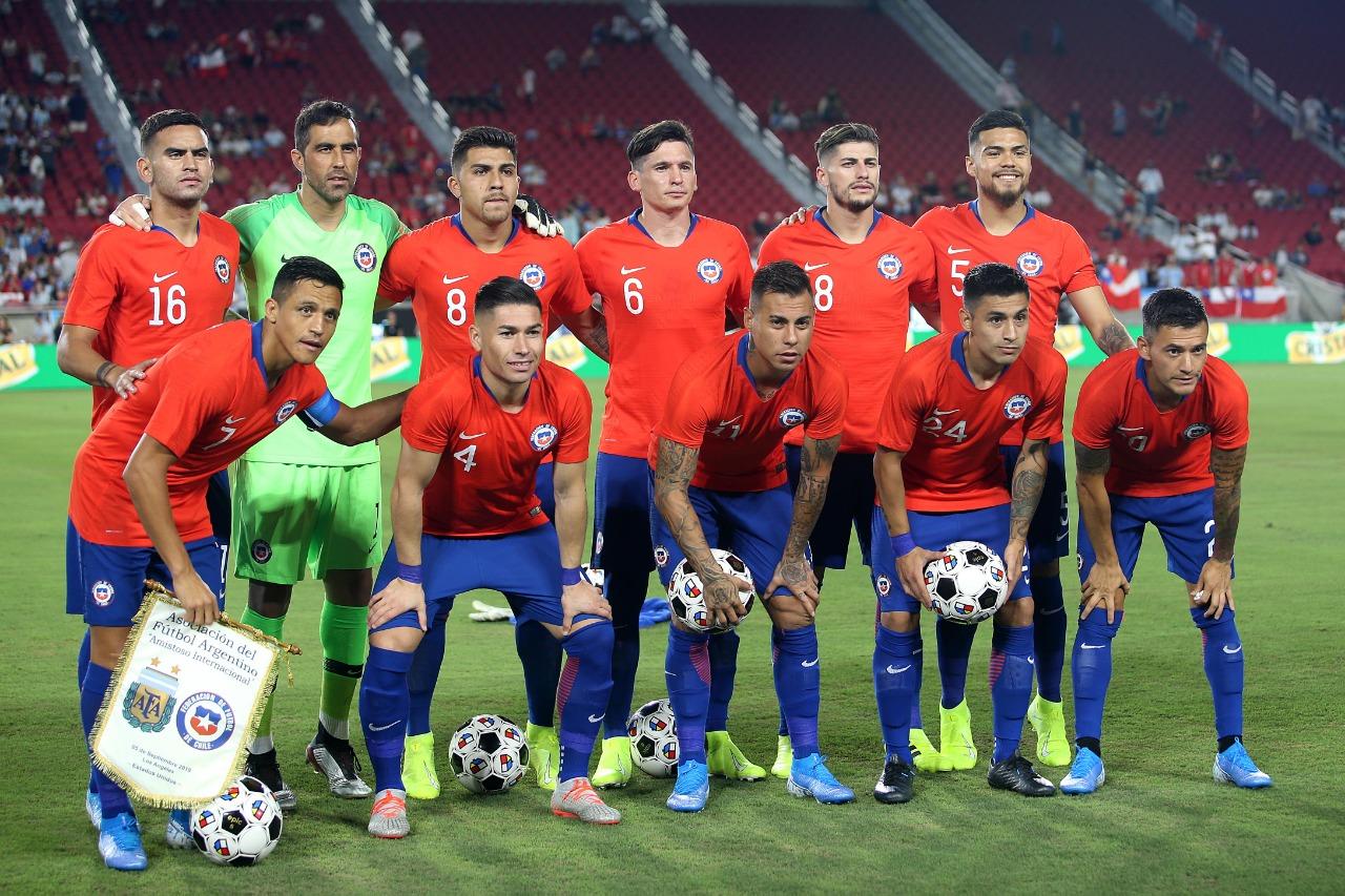 Formación de Chile ante Argentina, amistoso disputado el 5 de septiembre de 2019