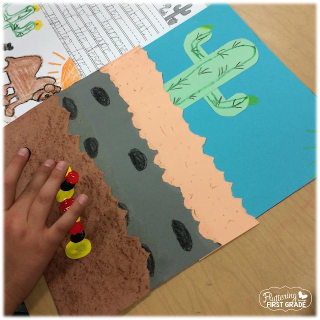 Desert habitat art project