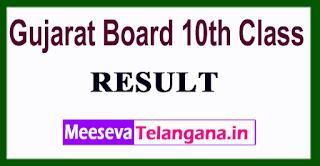 Gujarat Board 10th Class Result 2017