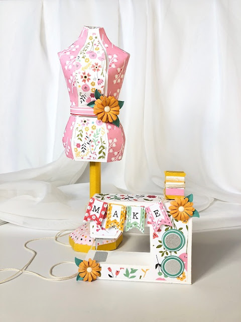 Echo Park Paper I Heart Crafting Sewing Room Ensemble by Michelle Zerull