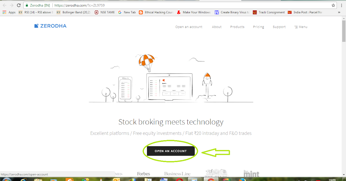 how to open share market account online