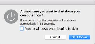 mac kapatılsın mı ekranı