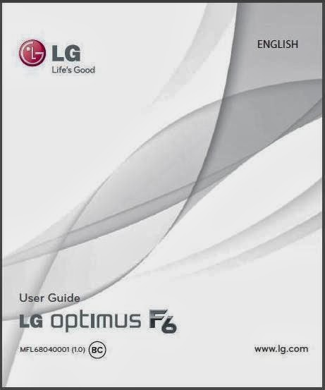 LG Optimus F6 D500 Manual