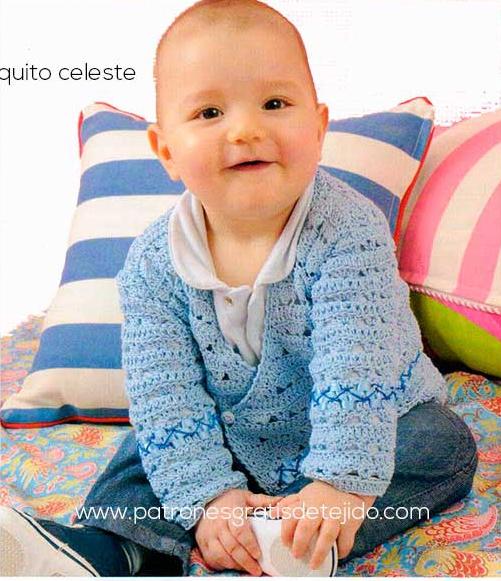 Saco de Bebé tejido a Crochet