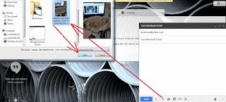 Upload File yang Akan Dikirim Melalui Email