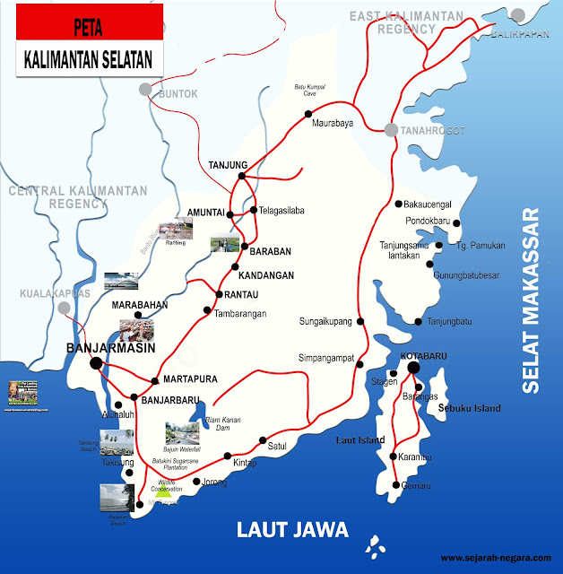 Gambar Peta Kalimantan Selatan