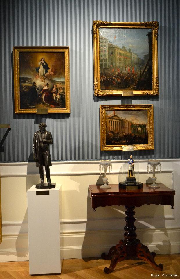 museo romantico, museo del romanticismo, sala de baile, mobiliario, isabelino, fernandino, sala Larra