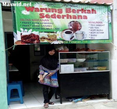 Warung Berkah Sederhana di Margonda Jalan Fatimah Depok Masakannya Nikmat