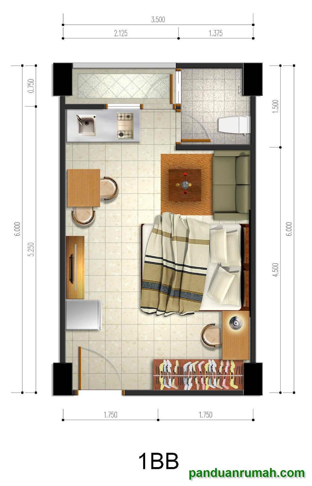 Desain Denah Apartemen